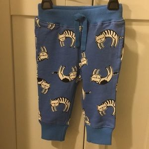 Hanna Andersson Joggers Sweatpants w/Cats